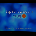 BlueTV Welcome Screen